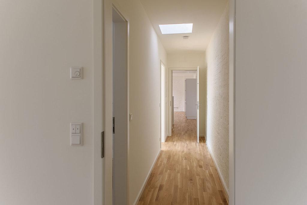 Neubau Dachgeschoss mit 3 Wohnungen in Prenzlauer Berg 2018